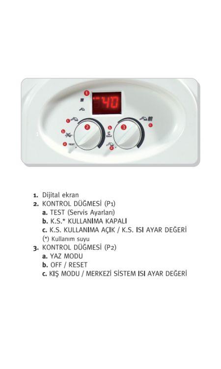 Maktek Omega 24 Elektrikli Kombi 20.640 Kcal/H